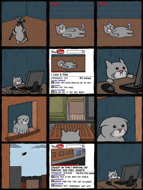 Μια γάτα που ήθελε να γίνει σταρ του YouTube (2)