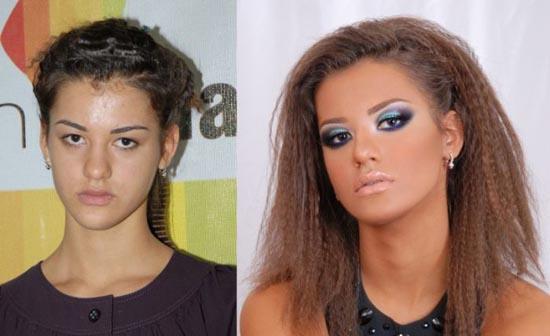 Γυναίκες με / χωρίς μακιγιάζ (6)