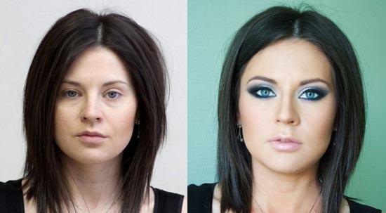 Γυναίκες με / χωρίς μακιγιάζ (12)