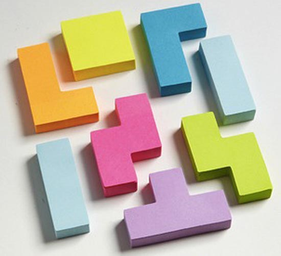 Post-It σε σχήμα Tetris (1)