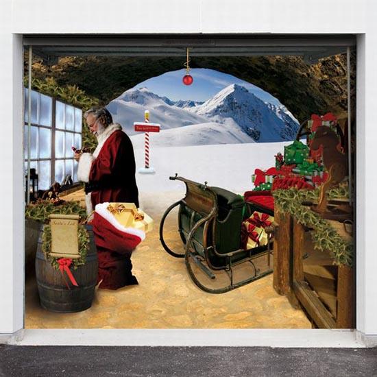 Απίστευτες Χριστουγεννιάτικες διακοσμήσεις σε γκαραζόπορτες (6)