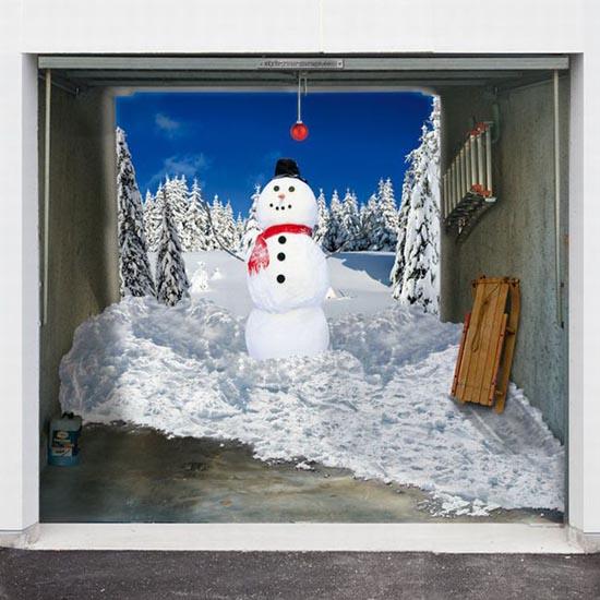 Απίστευτες Χριστουγεννιάτικες διακοσμήσεις σε γκαραζόπορτες (7)
