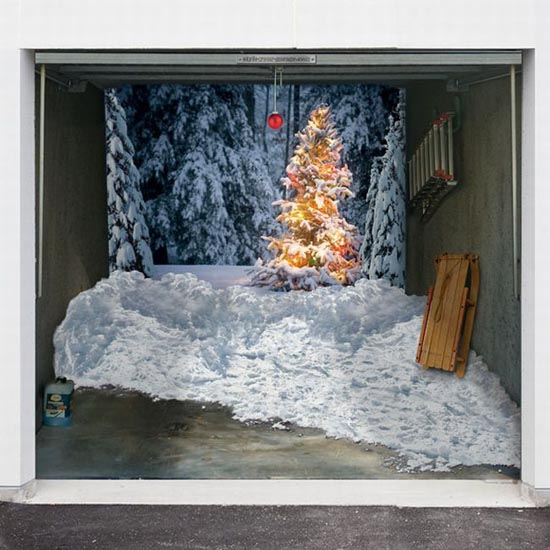 Απίστευτες Χριστουγεννιάτικες διακοσμήσεις σε γκαραζόπορτες (9)