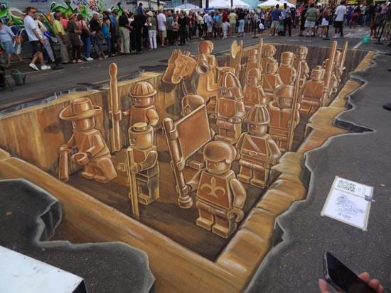 Απίστευτη 3D δημιουργία Lego με κιμωλία (7)
