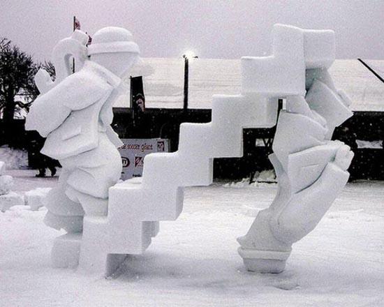 Γλυπτά από χιόνι (3)