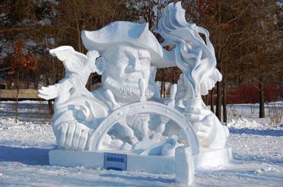 Γλυπτά από χιόνι (9)