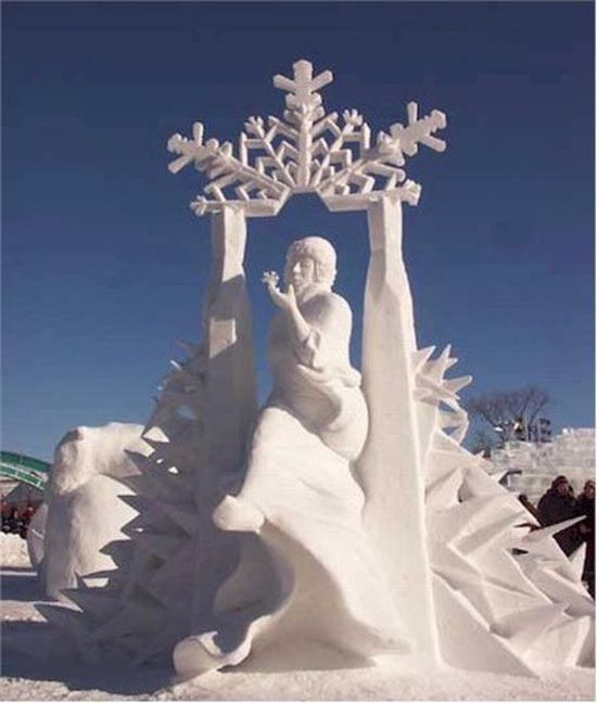 Γλυπτά από χιόνι (13)
