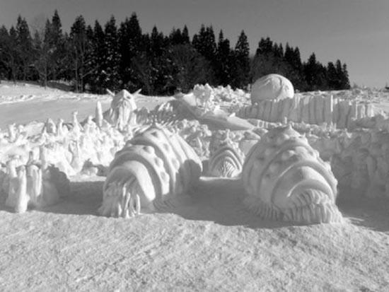 Γλυπτά από χιόνι (14)