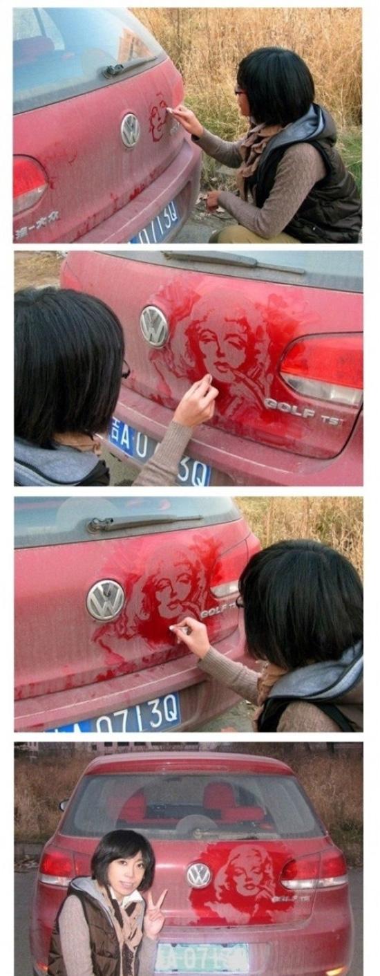 Όταν η σκόνη στο αυτοκίνητο γίνεται τέχνη (2)