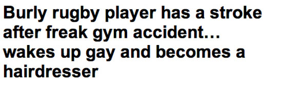 Παίκτης του rugby έπαθε εγκεφαλικό και ξύπνησε γκέι κομμωτής (2)