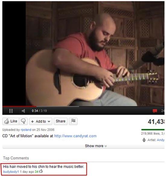 Παράξενα & ξεκαρδιστικά σχόλια στο YouTube (11)