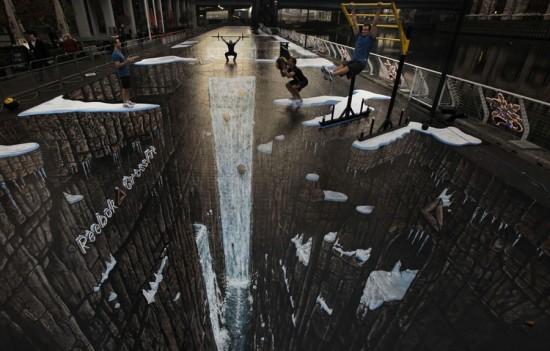 Φωτογραφία της ημέρας: Το μεγαλύτερο 3D έργο τέχνης του δρόμου στον κόσμο
