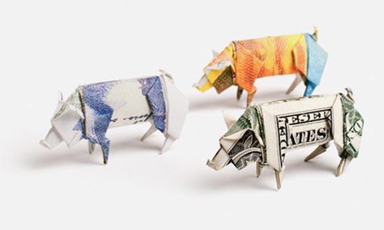 Υπέροχη τέχνη origami με χαρτονομίσματα (4)