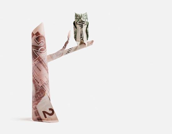 Υπέροχη τέχνη origami με χαρτονομίσματα (5)