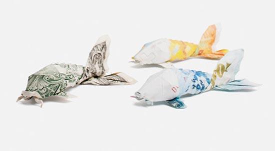 Υπέροχη τέχνη origami με χαρτονομίσματα (8)