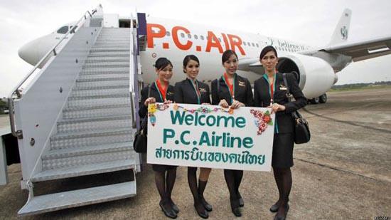 Οι ασυνήθιστες αεροσυνοδοί της Ταϊλανδέζικης P.C. Air (8)