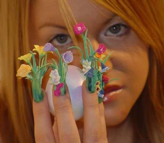 Ασυνήθιστα σχέδια σε νύχια (11)
