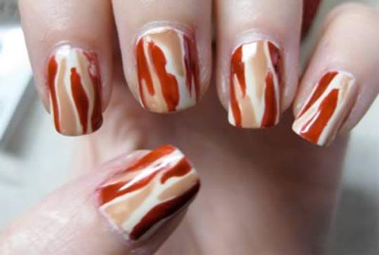 Ασυνήθιστα σχέδια σε νύχια (13)