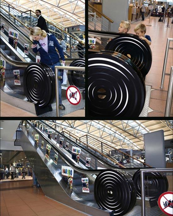 Πρωτότυπες διαφημίσεις σε κυλιόμενες σκάλες (1)