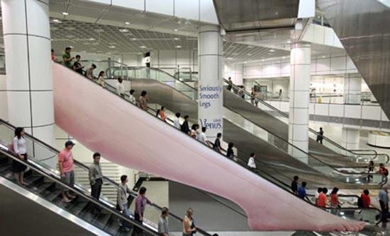 Πρωτότυπες διαφημίσεις σε κυλιόμενες σκάλες (2)