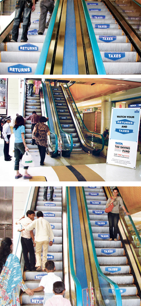 Πρωτότυπες διαφημίσεις σε κυλιόμενες σκάλες (3)