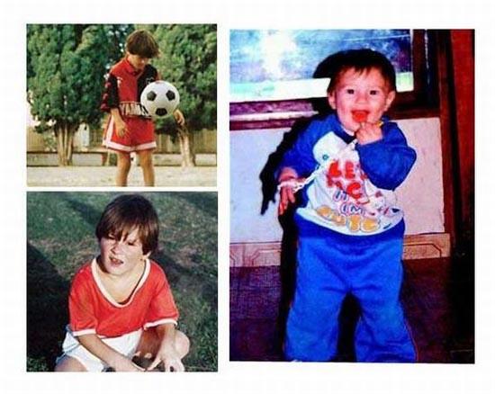 Διάσημοι ποδοσφαιριστές σε παιδική ηλικία και τώρα (1)
