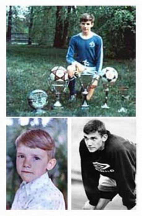 Διάσημοι ποδοσφαιριστές σε παιδική ηλικία και τώρα (9)
