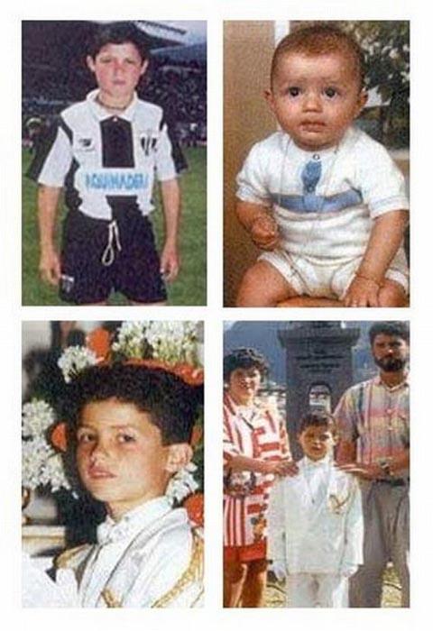 Διάσημοι ποδοσφαιριστές σε παιδική ηλικία και τώρα (13)