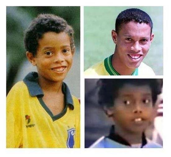 Διάσημοι ποδοσφαιριστές σε παιδική ηλικία και τώρα (25)