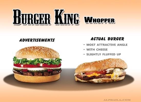 Fast Food: Διαφημίσεις vs Πραγματικότητα (1)