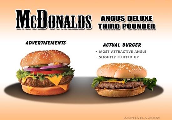 Fast Food: Διαφημίσεις vs Πραγματικότητα (2)