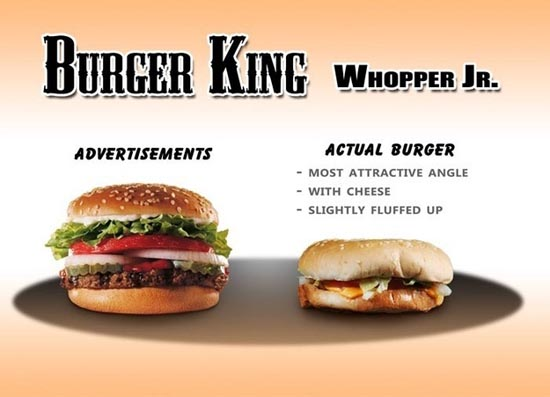 Fast Food: Διαφημίσεις vs Πραγματικότητα (3)