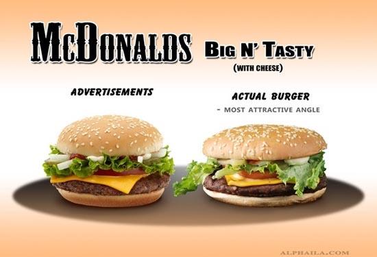 Fast Food: Διαφημίσεις vs Πραγματικότητα (4)