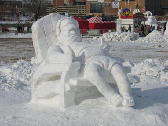 Γλυπτά από χιόνι (1)