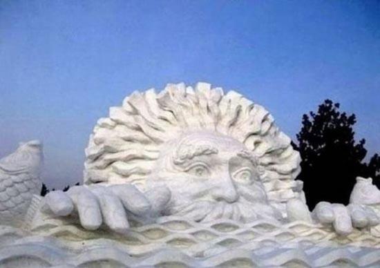 Γλυπτά από χιόνι (5)