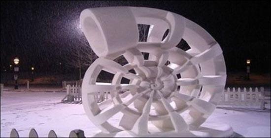 Γλυπτά από χιόνι (10)