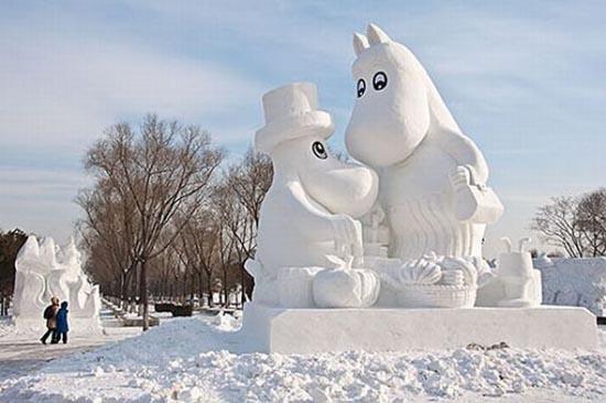 Γλυπτά από χιόνι (17)