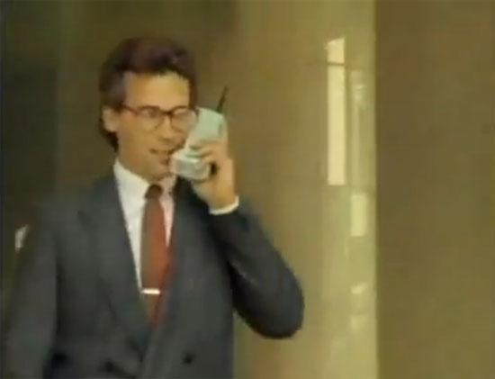 Διαφήμιση κινητού τηλεφώνου στα 80s