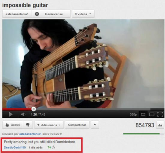 Παράξενα & ξεκαρδιστικά σχόλια στο YouTube (12)
