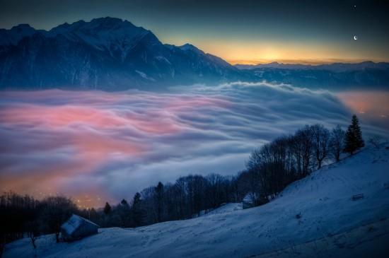 Φωτογραφία της ημέρας: Σελήνη & Αφροδίτη πάνω από τις ελβετικές Άλπεις