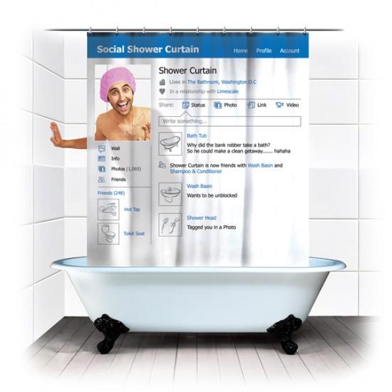 Φωτογραφία της ημέρας: Κουρτίνα μπάνιου για λάτρεις του Facebook
