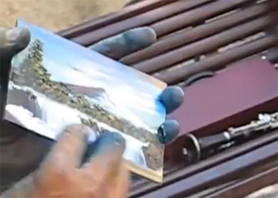 Ο πιο γρήγορος ζωγράφος με τα δάχτυλα