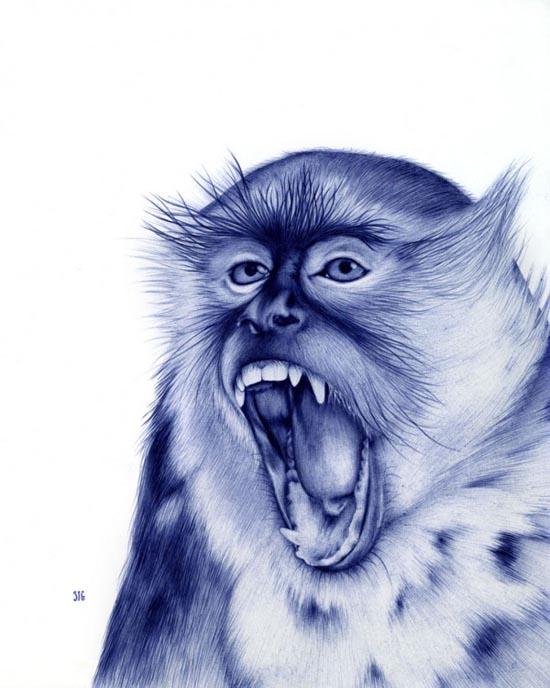 Εκπληκτικά πορτραίτα ζώων μόνο με ένα στυλό Bic (2)