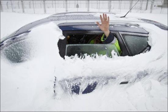 Τρομακτική χιονόπτωση στη Ρουμανία (1)