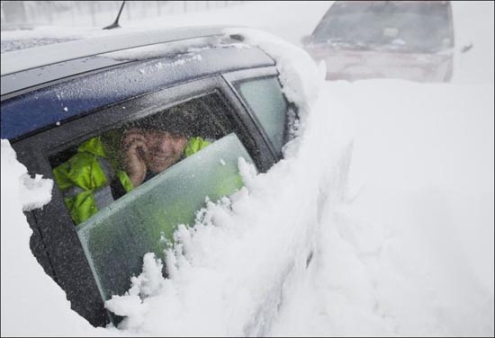 Τρομακτική χιονόπτωση στη Ρουμανία (8)