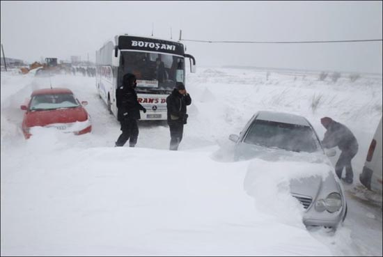 Τρομακτική χιονόπτωση στη Ρουμανία (9)