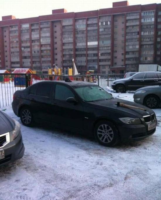 Εκδίκηση στο αγαπημένο του αυτοκίνητο... (2)