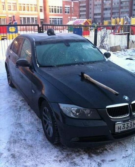 Εκδίκηση στο αγαπημένο του αυτοκίνητο... (4)