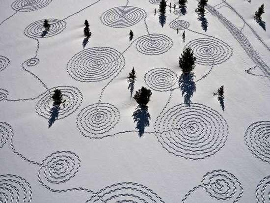 Γιγάντια σχέδια στο χιόνι από την Sonja Hinrichsen (3)