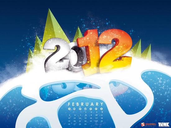 Wallpapers ημερολόγια Φεβρουαρίου 2012 (1)